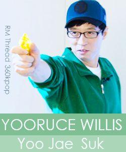 yoo jaesuk. aka yooruce willis (bruce willis) -running man.... I loved this episode,