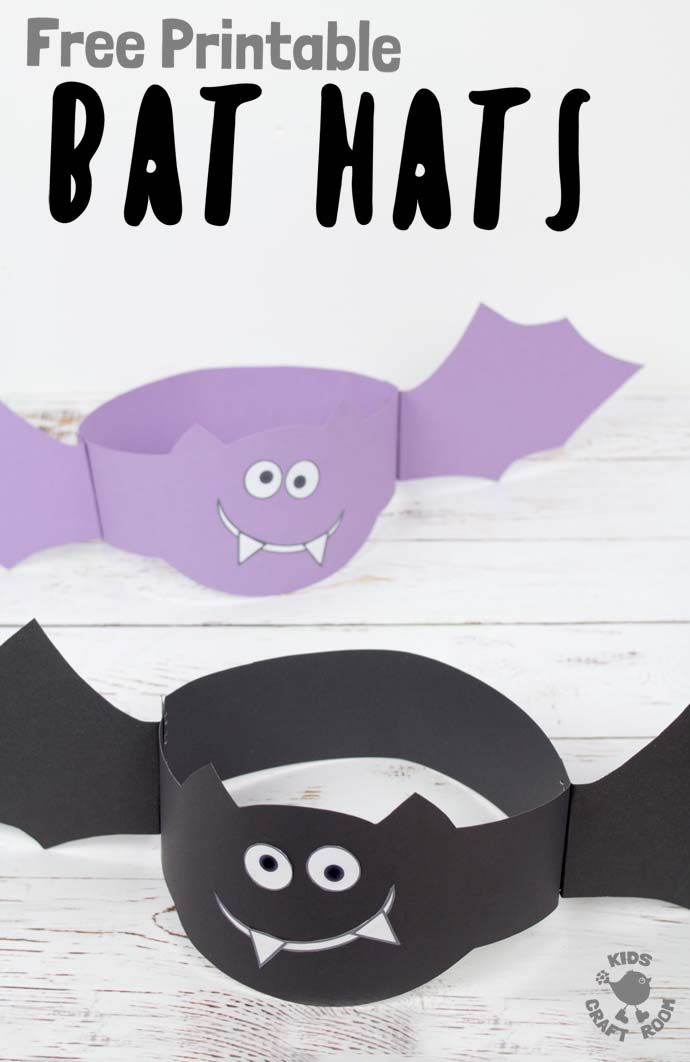 Printable Bat Hats Halloween Preschool Halloween Arts And Crafts