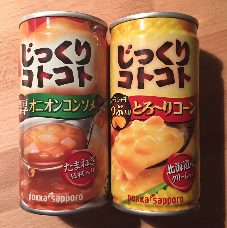 Pokka, Jikkuri Kotokoto, Corn Potage / Onion Comsomme Soup in a Can, 190g, E3 #PokkaSapporo