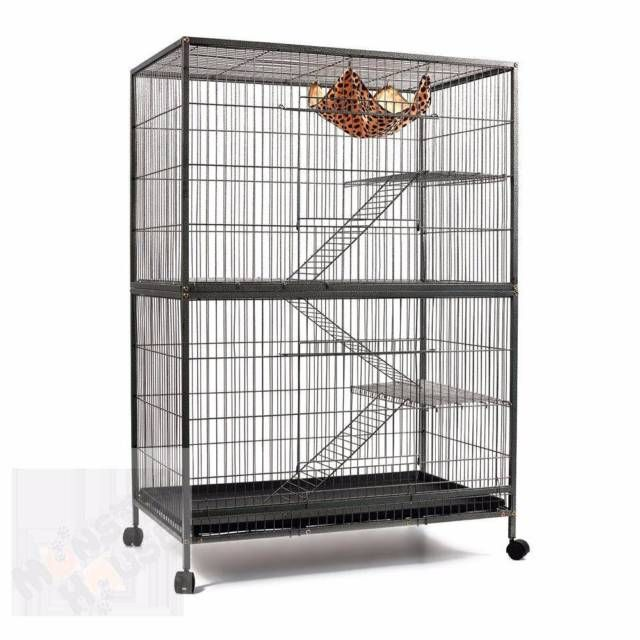 Multilevel Ferret Cage With Wheels This Fantastic Spacious 95cm Multilevel Animal Cage Is Definitely The Most Comfortable R Bird Supplies Pet Cage Ferret Cage
