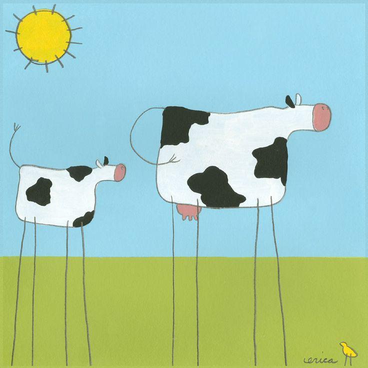Stick-leg Cow... surrealism (Salvidor Dali) !!