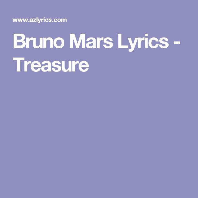 Bruno Mars Lyrics - Treasure