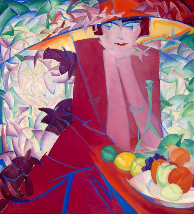 Leo Gestel, Lady with Large Hat in Summer House (1913). Oil on canvas. Collection Frans Hals Museum | De Hallen Haarlem. On view at De Hallen Haarlem as part of the exhibition Immortalized, summer 2013. #dehallenhaarlem #collection #painting #leogestel #art #woman