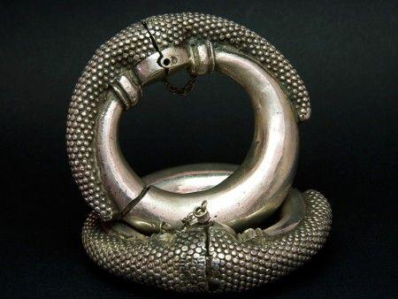 Rajasthani old silver anklet