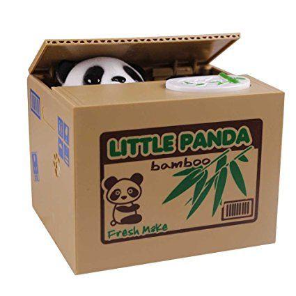 Missbleu Tirelire Enfant Tirelire Chat Voleur Cadeau pour Enfant Panda