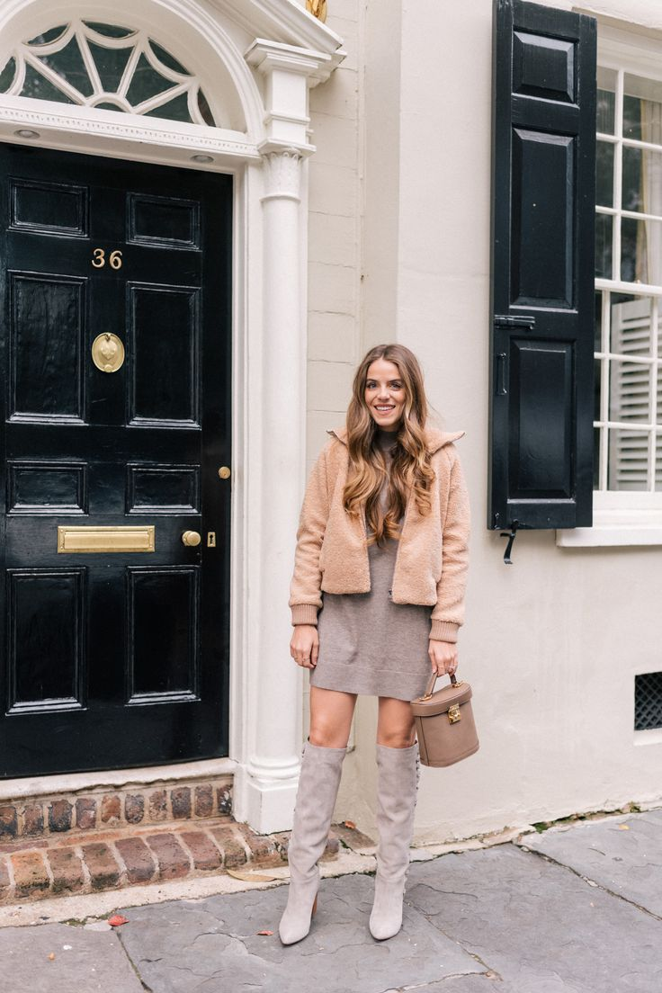 Joie Dress & Boots- Cozy but cute but cozy  finally found the perfect sweater dress over on GMG today http://gmglam.me/2kOUVek ShopStyle #sponsored
