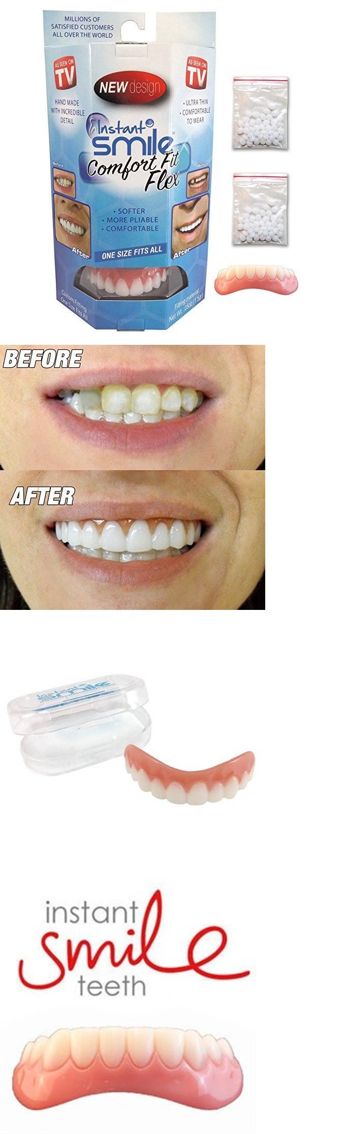 Other Oral Care: Instant Smile Comfort Fit Flex Top And Bottom Cosmetic Teeth Veneer Dr Bailey BUY IT NOW ONLY: $34.85