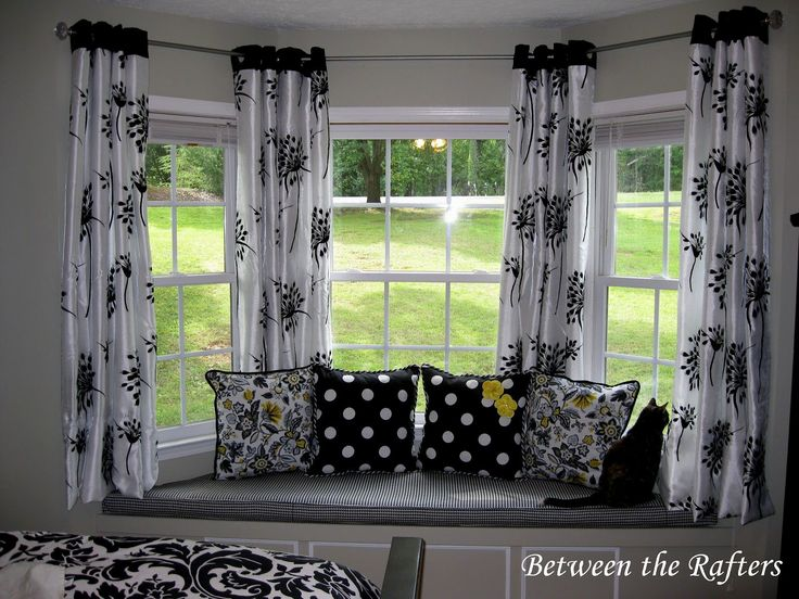 Small Bay Window Curtain Ideas - http://behomedesign.xyz/small-bay-window-curtain-ideas/