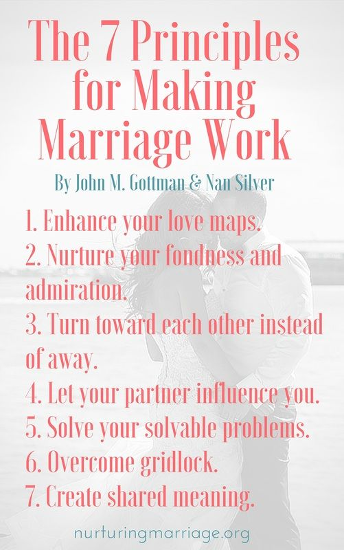 the ideas on happy marriages in 7 principles for making marriage work Buy the seven principles for making marriage work new ed by john the seven principles for good sense of the problems that are encountered in happy marriages.