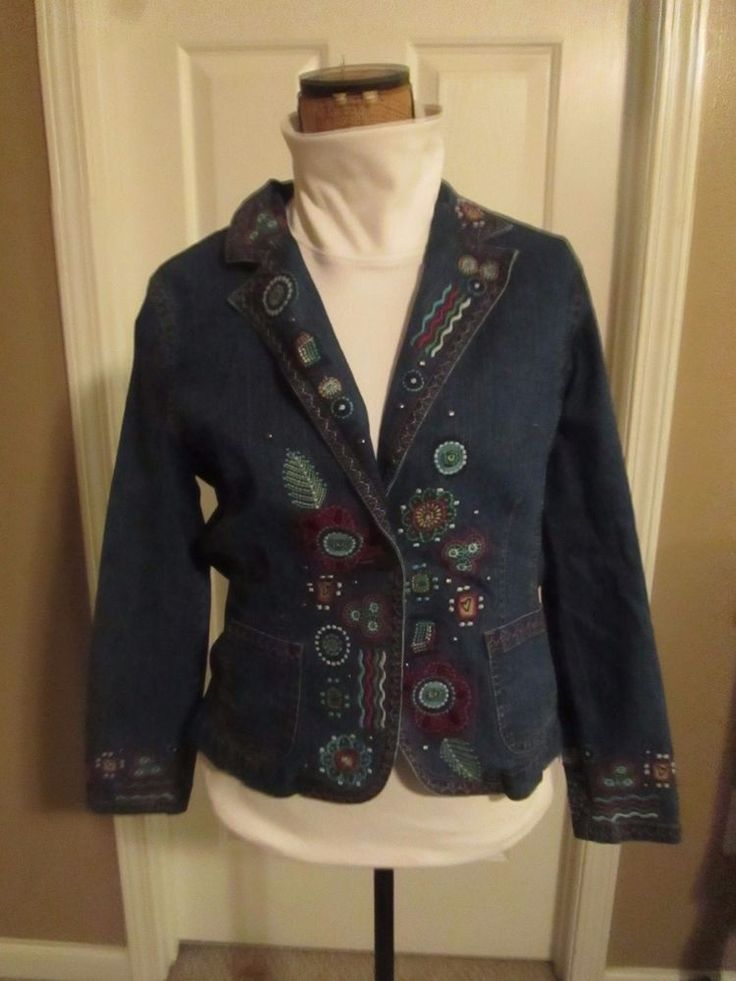 Ruby Red Brand Blue Jean Jacket Coat - Blue Sz 10 Ladies Juniors  #RubyRed #JeanJacket
