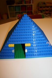 Adventures in Homeschooling: Egyptian pyramid built from legos