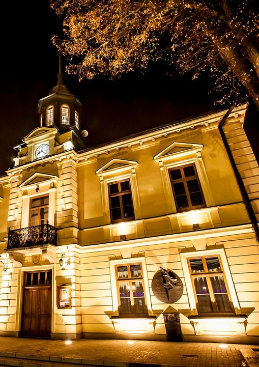 Town Hall in Nowy Targ, Poland. Ratusz w Nowym Targu.