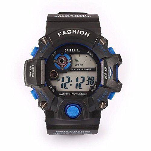 Fami Montres Quartz Sport numériques LED Silicone militaire pour hommes de Wristwatche Waterproof: Mouvement: Numérique Style: Sport…