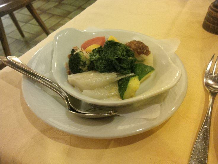 Small bouquet of vegetables @ Restaurant Belfort