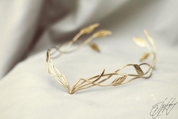 Hochzeitssuite Stirnband Tiara Elfischer von glorfindiadems auf Etsy