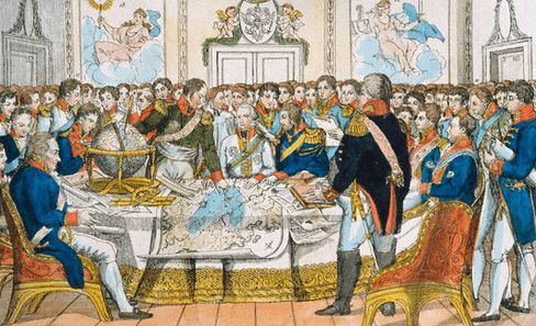 1815 The Congress of Vienna: 4 European powers after defeat of Napoleon goal to establish a balance of power and prevent Imperialism within Europe to maintain peace.