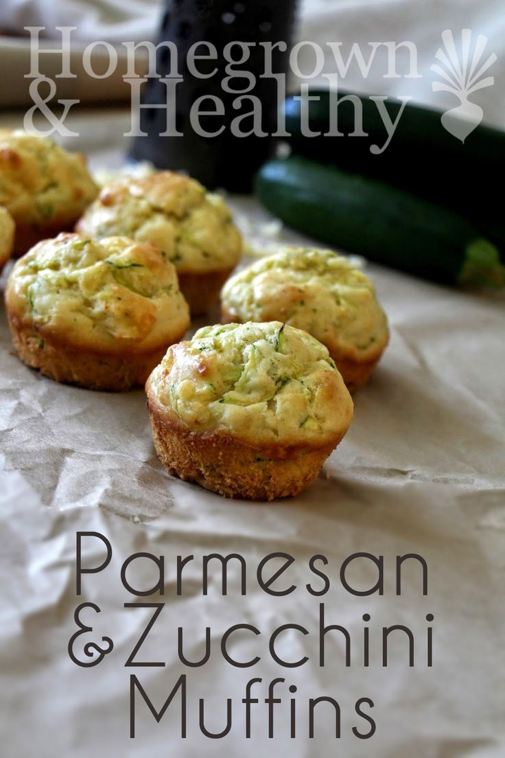 How about these for breakfast? Parmesan and zucchini muffins