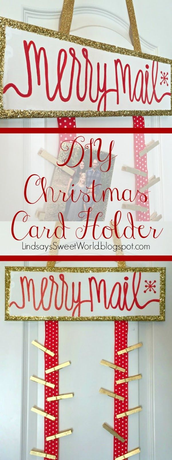 DIY Christmas Card Holder - a place to hang all of your merry mail!