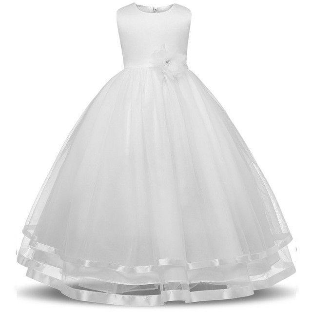 2017 New Brand Summer Style Flower Girl Dresses For Teenager Children Clothes