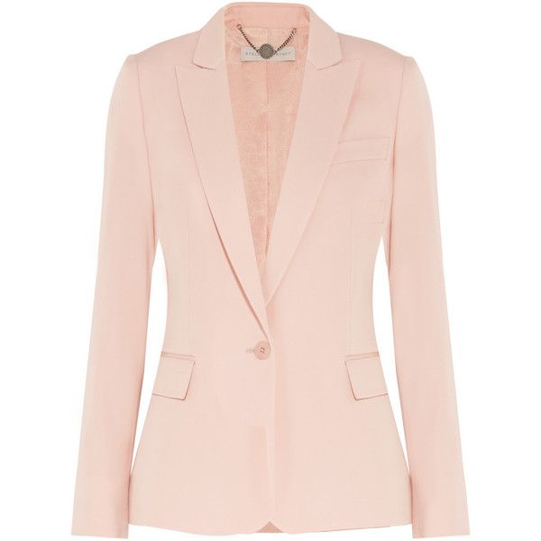 Stella McCartney Ingrid silk blazer, Women's, Size: 48 (€900) ❤ liked on Polyvore featuring outerwear, jackets, blazers, blazer, stella mccartney, coats, blush, pink blazers, blazer jacket and silk jacket