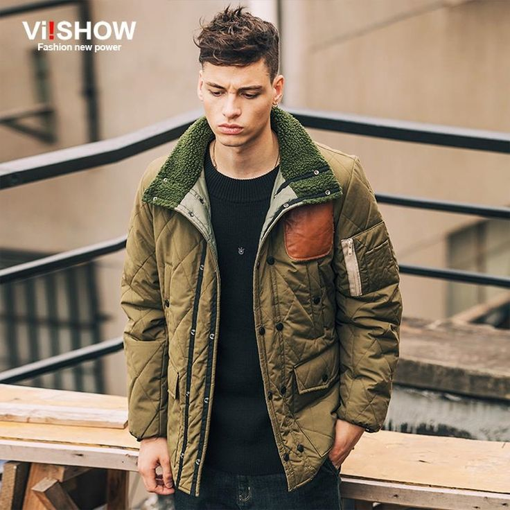 (64.31$)  Buy here  - Viishow Fashion Winter Jacket Men 2016 Brand Clothing Army Green Men Parka Coat Long Sleeve Jacket Men Clothes M-XXL