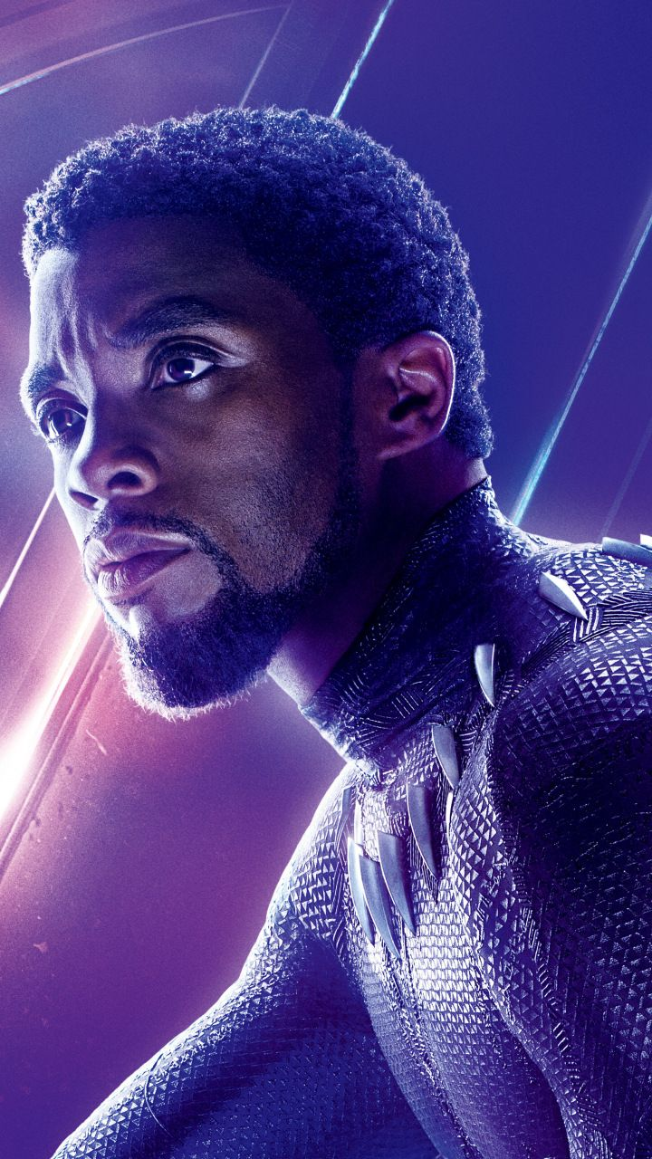 Chadwick Boseman Black Panther Avengers Infinity War Movie Superhero 720x1280 Wallpaper Black Panther Movie Poster Black Panther Marvel Black Panther