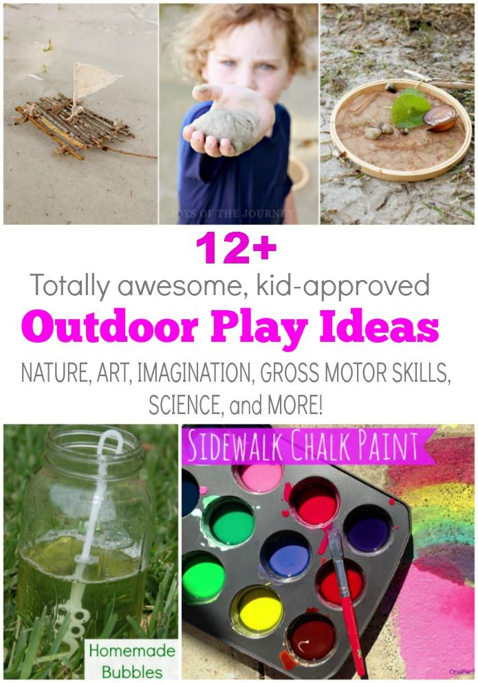 LOADS of simple and fun ways for kids to play and learn outside. Love these!