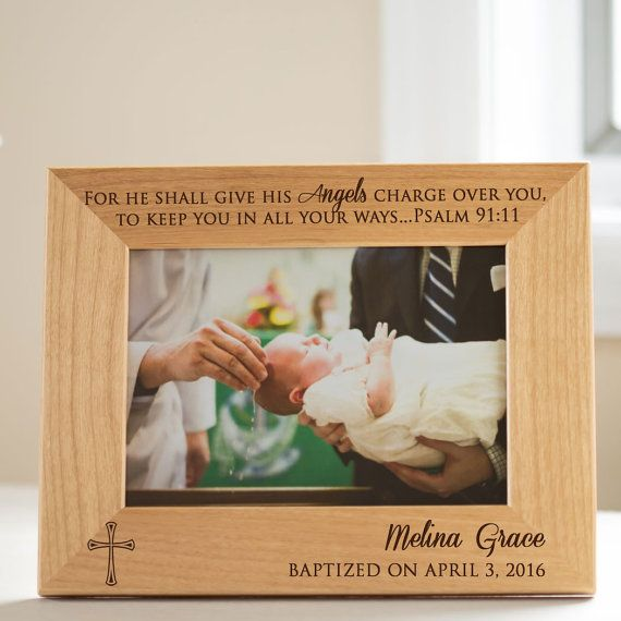 Personalized Baptism Picture Frame: Personalized Baptism Gift, Personalized Christening Gift, Godchild Gift, FAST SHIPPING