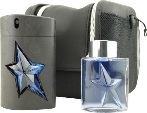 Angel by Thierry Mugler for Men. Set-Eau De Toilette Spray Rubber Bottle 3.4-Ounces & Aftershave 1.7-Ounces & Toiletry Bag by Thierry Mugler. $85.00. Packaging for this product may vary from that shown in the image above. This item is not for sale in Catalina Island. Introduced in 1996, Angel features mint, coffee, caramel, lavender, and tar. Its recommended use is for casual occasions.. Save 11% Off!