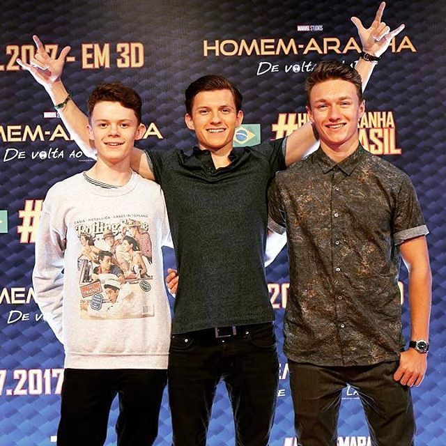 [NEW] Tom with Haz and Harry!  @tomholland2013 | #tomholland #spidermanhomecoming