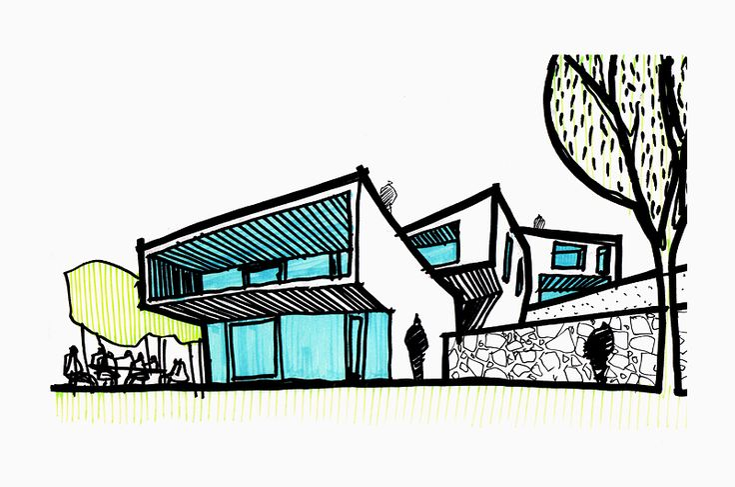 #Villas in Bratislava #Slovakia by @gutgutsk #architecture #sketch