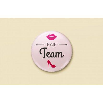 Badge Mariage Rose & Bleu - EVJF Team