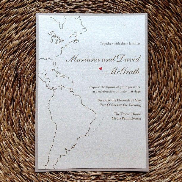 United States / Brazil wedding invitation idea