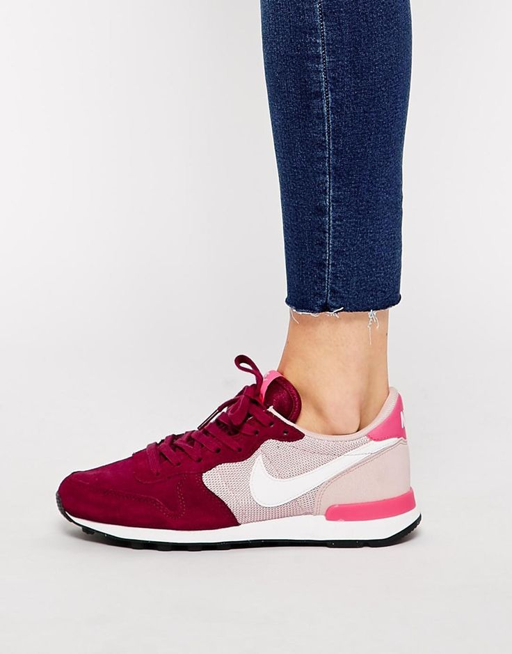 online store 85fb6 5728a ... promo code for image 4 of nike internationalist burgundy and pink  trainers 248ff c510e