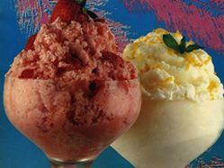 Buttermilk strawberry ice. 7 simple ingredients!