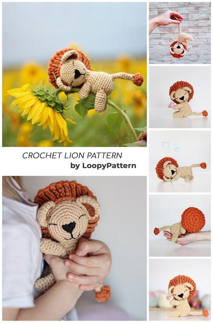 10 Free Crochet Lion Amigurumi Patterns | Crochet lion, Amigurumi ... | 1106x730