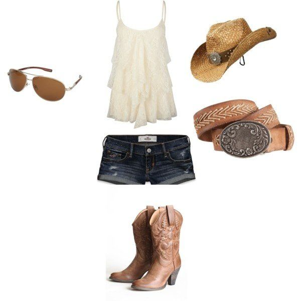 Cute southern outfit for the summer! You would fit right in on the country side!