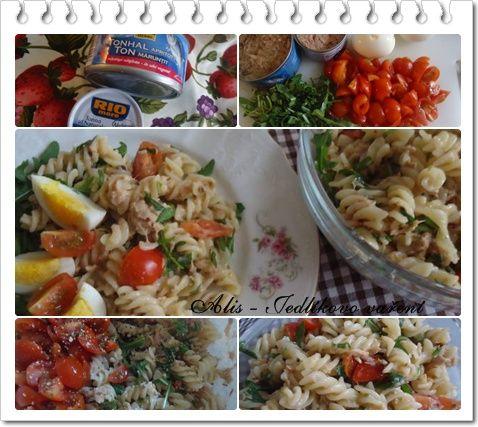 Jedlíkovo vaření: Těstovinový salát s tuňákem  #recept #salat #testoviny #tunak