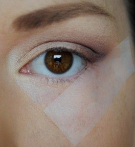 Interesting: Tape method for perfect eye makeup application. (MaryKay rocks)