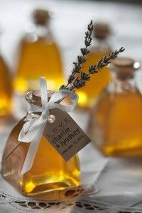 Our new, elegant #honey #wedding favors can be personalized with flowers, tags and bows.