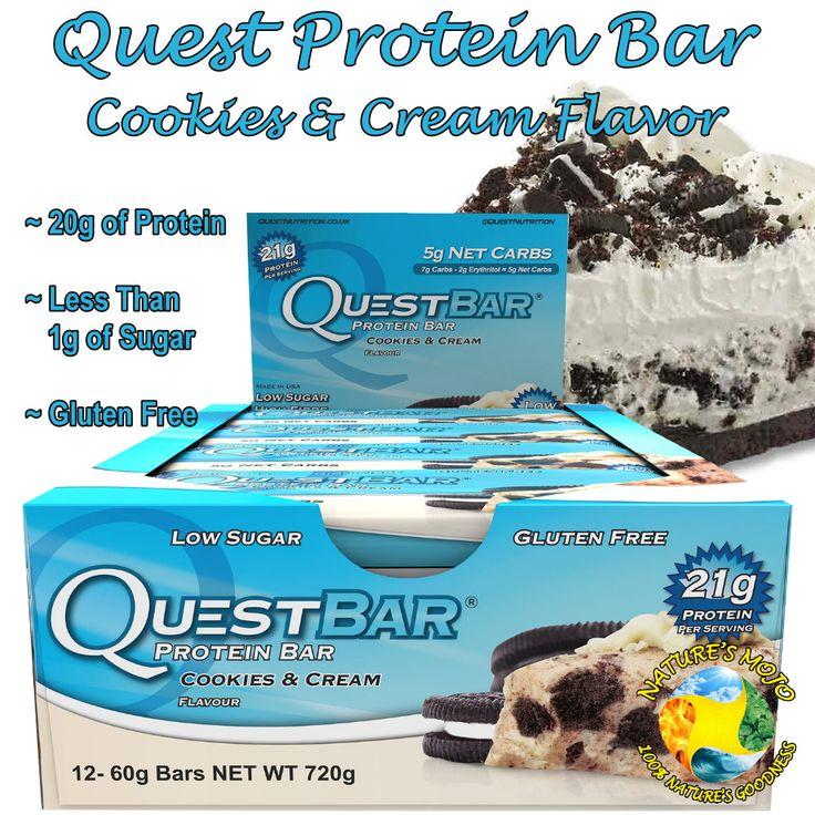 Quest Protein Bar Cookies & Cream Flavor