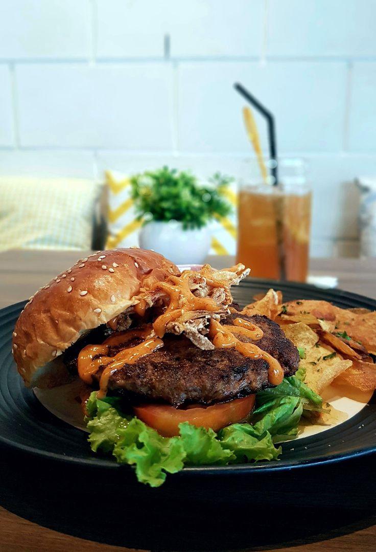 """Grilled Wagyu Burger"", Portafilter, Jakarta"