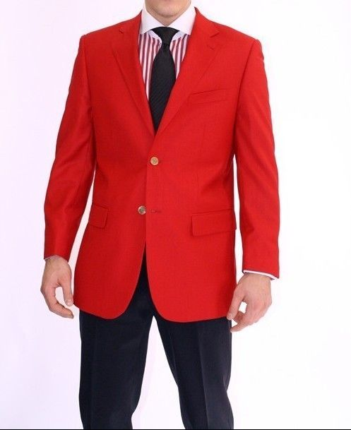 Blazers, Sport jacket, Dinner Jacket, gold Button for Men. RED BLAZER JACKET