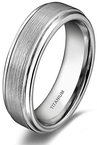 6mm Titanium Ring Flat High Polish / Brush Finish Comfort Fit Wedding Bands for Men Women Unisex - http://www.jewelryfashionlife.com/6mm-titanium-ring-flat-high-polish-brush-finish-comfort-fit-wedding-bands-for-men-women-unisex/
