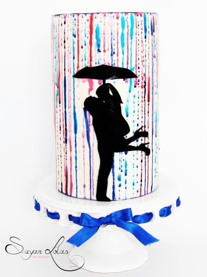 Romantic silhouette cake by Suyan Lolas