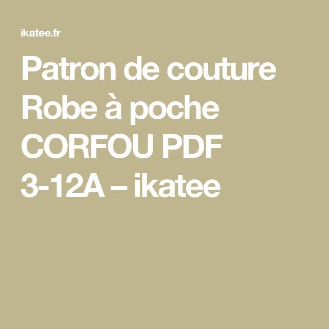 Patron de couture Robe à poche CORFOU PDF 3-12A – ikatee
