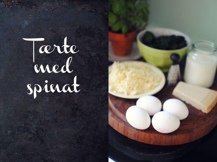 Opskrift: Tærte med spinat - evt. tilføjet laks
