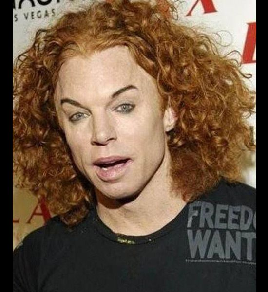 carrot top worst eyebrows | Oddities and/or Adult Humor | Pinterest ...