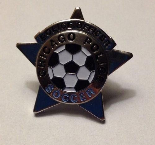 US Chicago Police Officer Soccer Lapel Tie Pin
