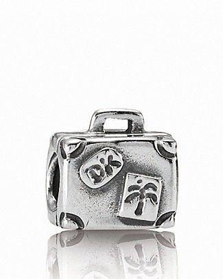 PANDORA Charm - Sterling Silver Suitcase | Bloomingdale's